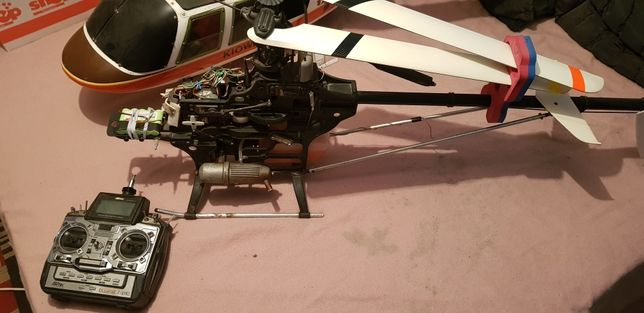 Elicopter rc nitro, robbe ornith 600 complet echipat si functional!