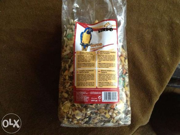 храна за голям папагал жако ара
