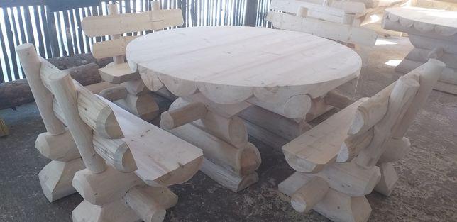 Masa rotunda din lemn rotund