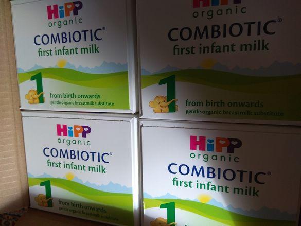 Хипп Hipp Combiotic 1 или 3 адаптирано мляко 4 кутии
