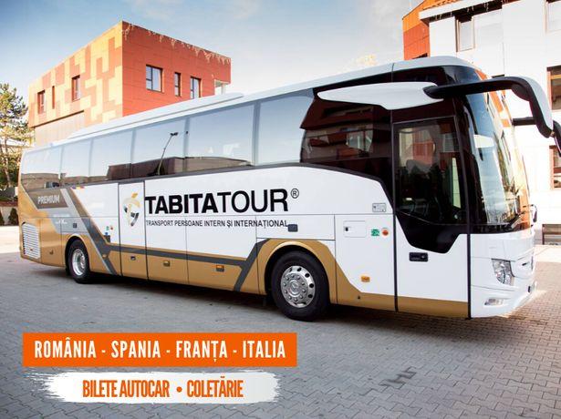Transport persoane si colete din SLATINA spre Spania, Italia, Franta