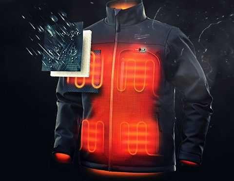 Водоотталкивающая куртка с подогревом