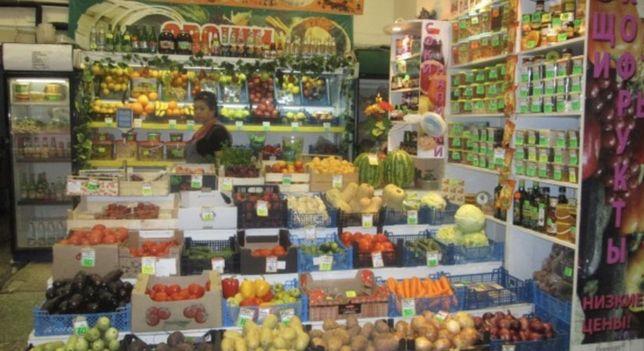 Овощной магазин. Вдоль дороги