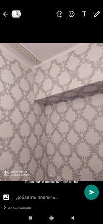 Обои клеим ,покраску стен и потолков,левкас делаем.