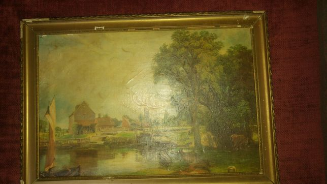 Pictura pe panza in ulei veche