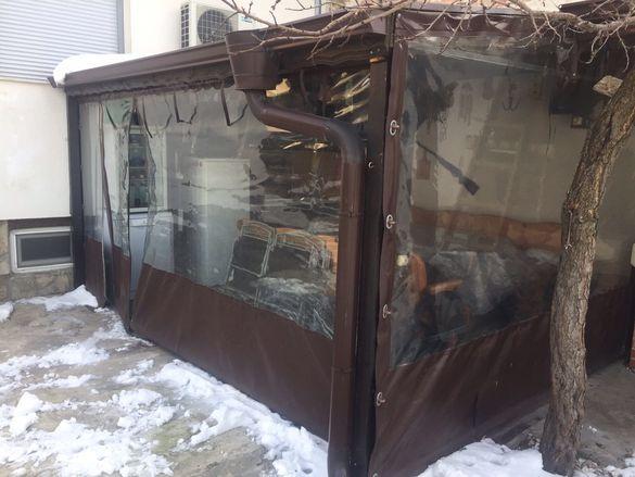 Ветроупорна завеса- найлон за навес/барбекю