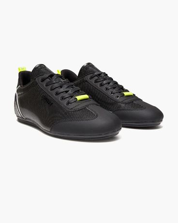Cruyff Recopa Underlay Black / Fluo Yellow Metal Hex Trainers
