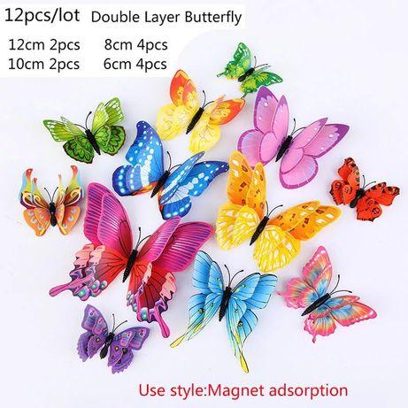 Многоцветные наклейки 3d