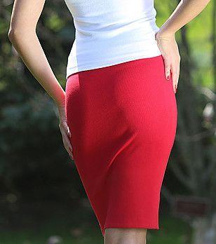 Червена/Синя дамска пола на Z&lia,плетена