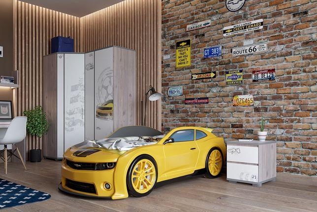 """Кровать-машинка объемная (3d) EVO """"Camaro"""" желтый"""