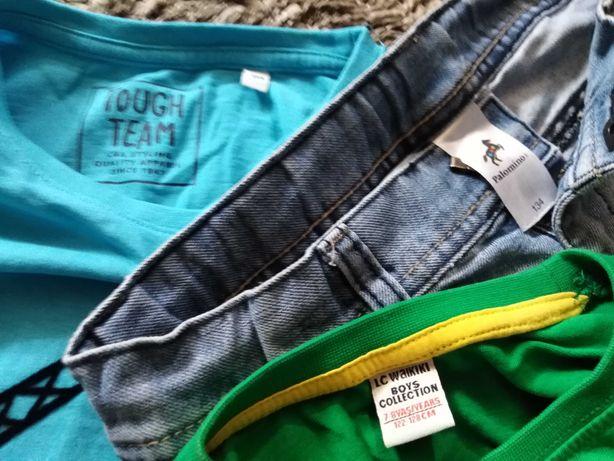 Vând lot hainute excavator copii compus din 2 bluze și blugi