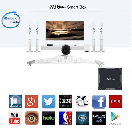 Android Smart TV Box 4GB DDR3 64GB Android 8.1. 1000 LAN 5GHZ WIFI