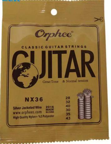 Corzi chitară clasică Orphee nylon