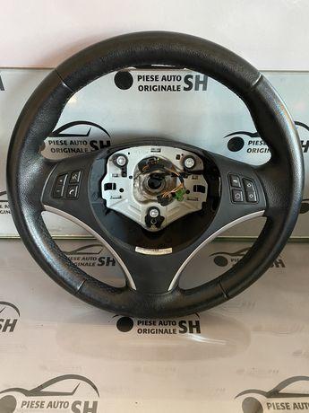 Volan cu sau fara airbag BMW e87 123d LCI cu comenzi e90