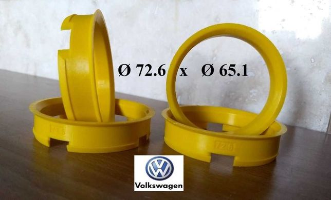 Inele de centrare ghidaj VW T5, T6 cu jante BMW Ø 72,6 x Ø 65,1
