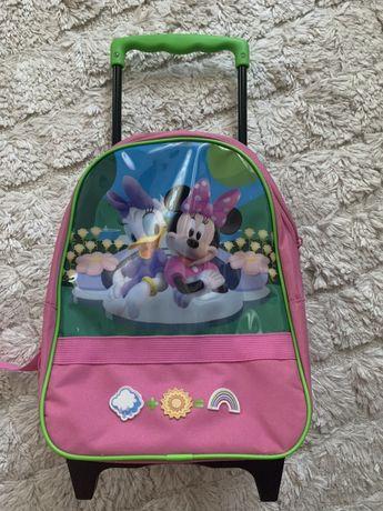 Rucsac/troler Disney original, minnie si daisy , stare foarte buna