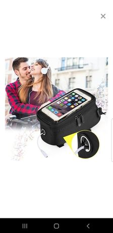 geanta borseta cadru ghidon de bicicleta motocicleta pentru smartphone