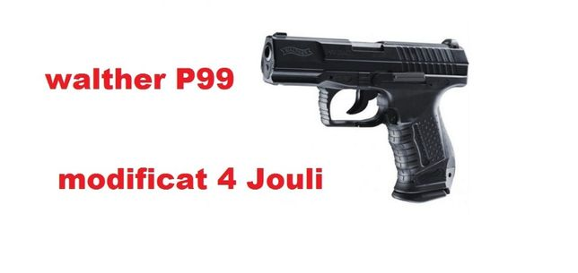 Pistol airsoft full metal co2 Walther 4 J+5capsule+250bile