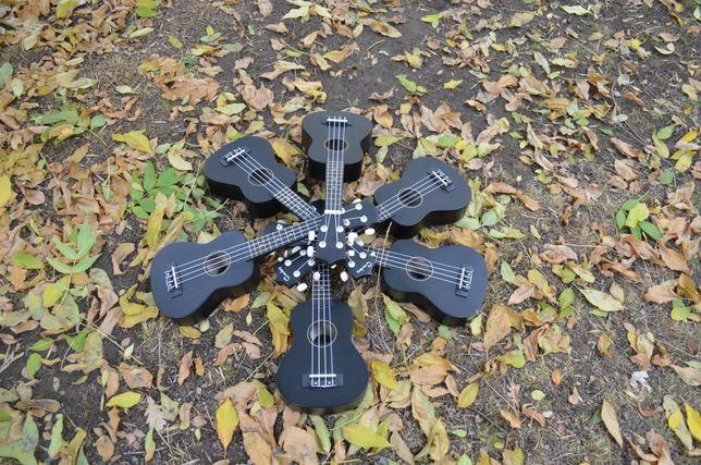 Акция Цветная укулеле/Color ukulele Palmer UK-100, черный цвет Алматы