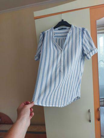 ZARA памучна външна риза за дънки  с бродерия размер М-Л.