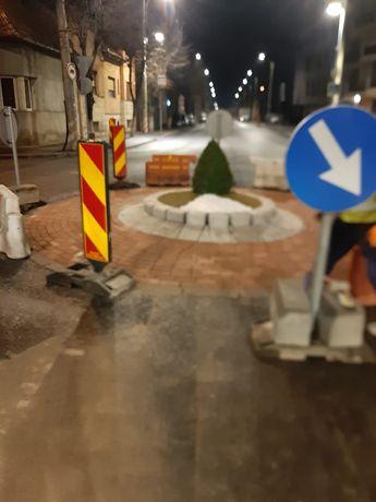 Amenajari sensuri giratorii cu asfalt