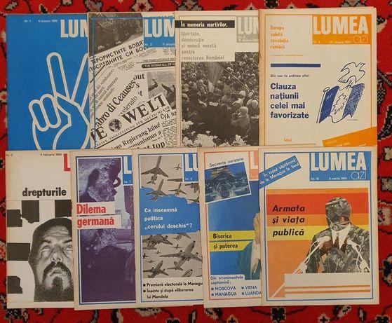 Lot 9 reviste LUMEA din 1990, primele apărute după revoluția din '89
