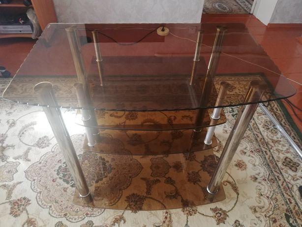 Стеклянный столик под телевизор!!!