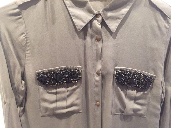 Дамска риза с камъни