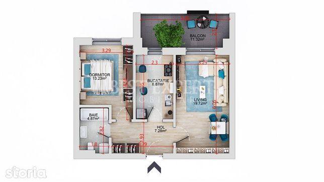 Apartament superb 2 camere decomandate Balcon 11 mp Direct Dezvoltator