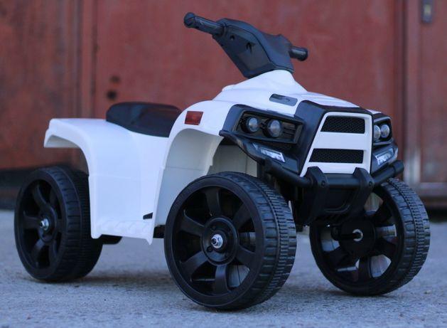 ATV electric pentru copil 1-3 ani, Offroad Panda 35W 6V 4.5Ah #Alb