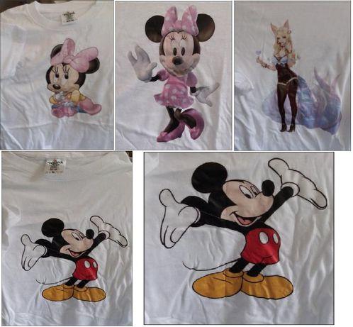 tricouri Michey (mas L , mas 11-12ani), Minnie (mas S,M)