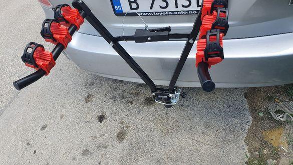 Стойка,багажник за три велосипеда за теглич