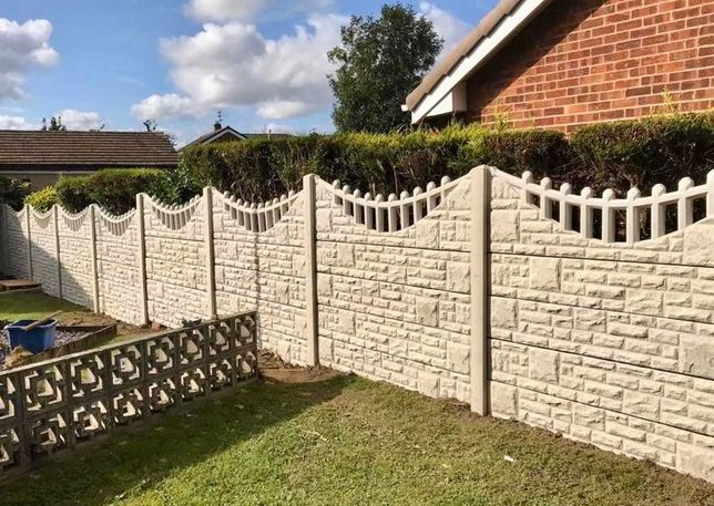 Oferta set forme pentru gard de beton, model piatra sparta, 3400 lei!
