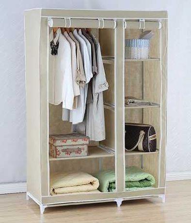 Тканевый шкаф вешалка гардеробная напольная 110х50х165 см
