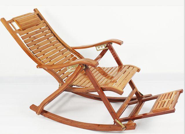 Balansoar de terasa/living lemn Bambus ajustabil cu cadru rezistent