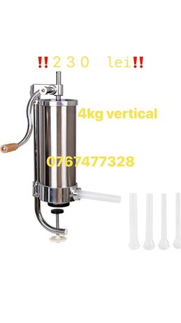 Masina de umplut carnati/carnatar  inox 4 kg vertical