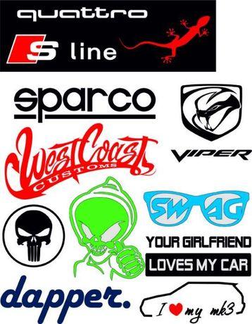Стикери за автомобили по поръчка