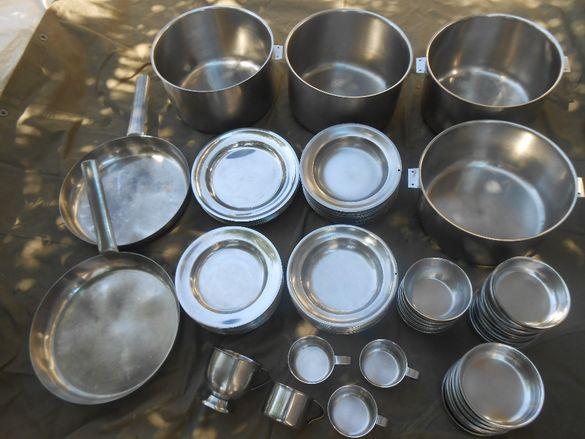 Съдове за хранене и готвене от алпака-тава,тенджери,чинии,купички и др