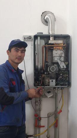 Ремонт газовых котла колонок плит стиральных машин аристон газ колонка