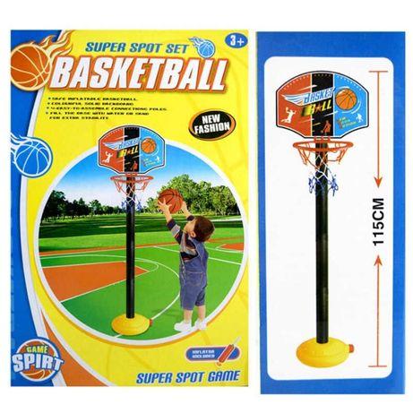 Детски Баскетболен кош на стойка с помпа и топка 115см