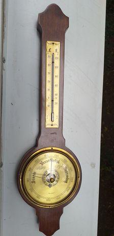 Termometru cu mercur și barometru pentru perete, lungime 50 cm.