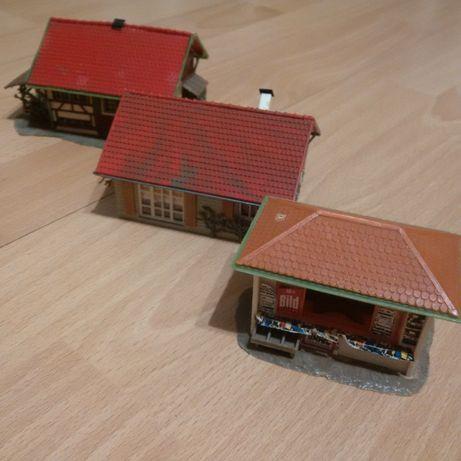 2 case si 1 chiosc - FALLER, VOLLMER, KIBRI - Diorama - Trenulet