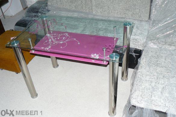 Маса трапезна, стъклена-110х70х74см