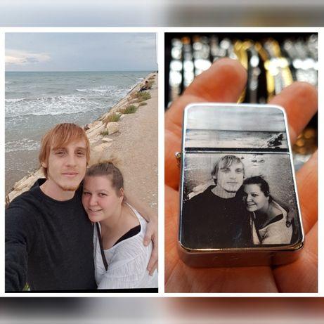 Запалка персонализирана със снимка и текст
