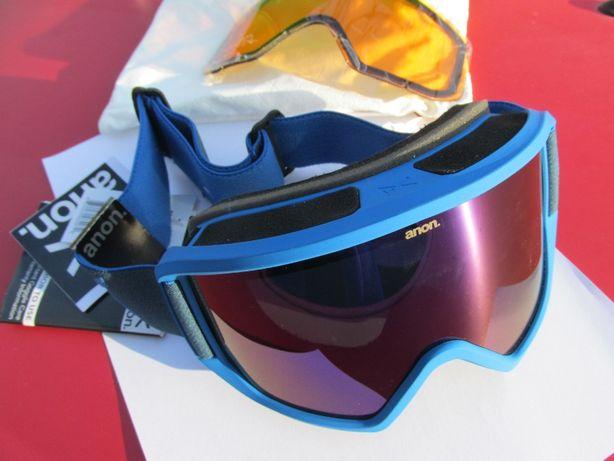 Ochelari de zapada ANON - Albastri - NOI - cu lentila de schimb