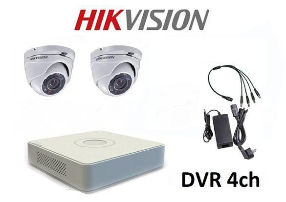 Комплект за видеонаблюдение с 2 HD-TVI камери HIKVISION + захр.