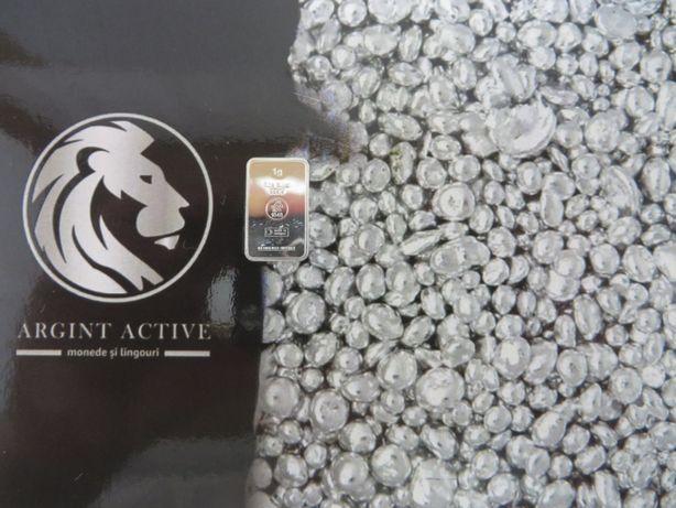 Lingou pentru cadou argint pur 999 1 gr. atasat cu vedere + certificat