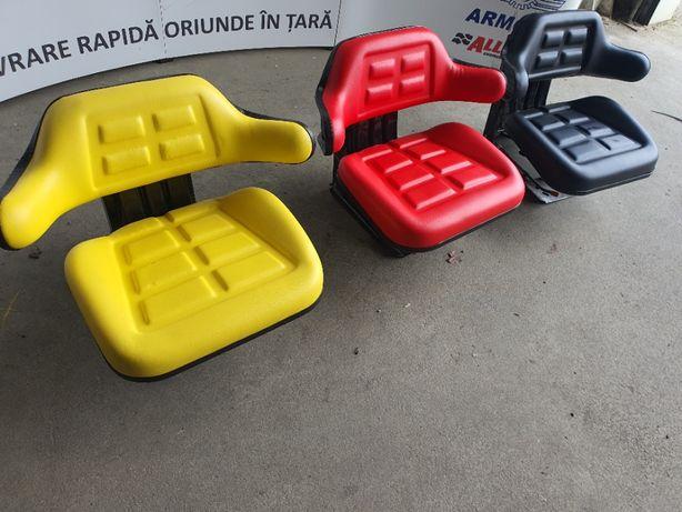 scaune cu prindere universala pentru utilaje agricole si rosu/galben