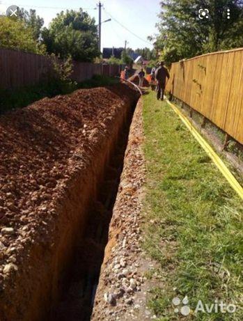 Земляные работы,копка,траншеи,септик ямы демонтаж,фундамент