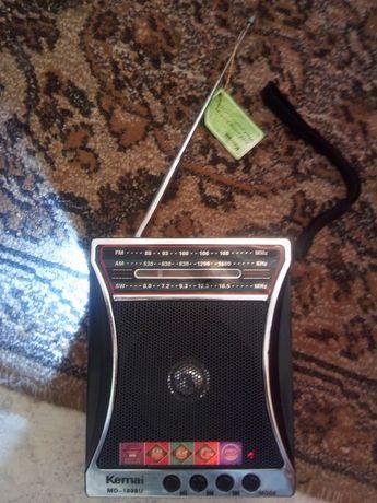 MP3 radio Kemai cu acumulator și lanterna